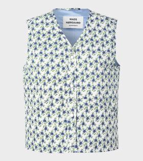 Valissa Blue Flower Vest Blue