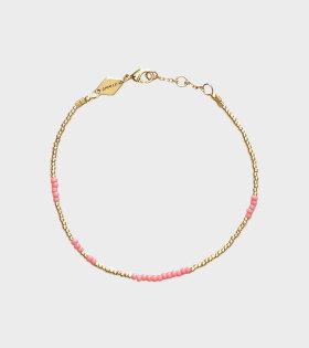 Anni Lu ASYM Bracelet Gold/Bubblegum - dr. Adams
