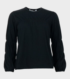 Comme des Garcons Long Sleeved Cinched T-shirt Black - dr. Adams