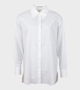 Acne Studios Stella Poplin Shirt White - dr. Adams