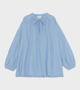 Skall Studio Lyre Blouse Chambray Blue - dr. Adams