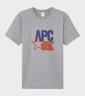 A.P.C Cornelius T-shirt Grey - dr. Adams