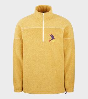 66 North Kria Fleece Half Zip Yellow - dr. Adams