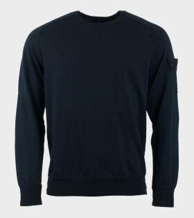 Stone Island Logo Sweatshirt Dark Navy - dr. Adams
