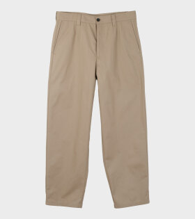 Acne Studios Pulaski Cotton Pants Beige - dr. Adams