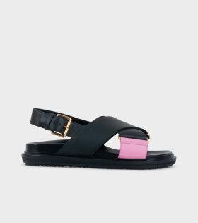 Marni Fussbett Sandal Black/Pink - dr. Adams