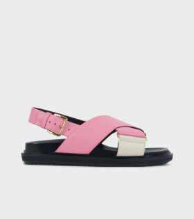 Marni Fussbett Sandals Pink/White - dr. Adams