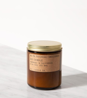 P.F. Candle Co. No.19 Patchouli Sweetgrass Candle - dr. Adams