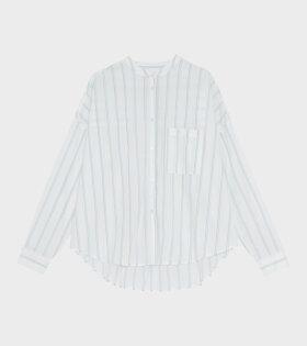 Skall Studio Lee Shirt Printed Stripe Blue/White - dr. Adams