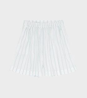 Skall Studio Lee Shorts Printed Stripe Blue/White - dr. Adams