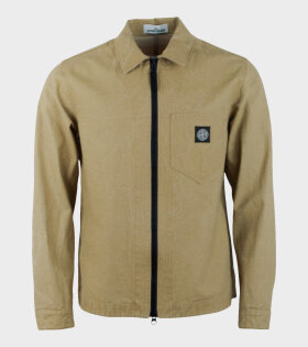 Stone Island PANAMA PLACCATO Jacket Brown - dr. Adams