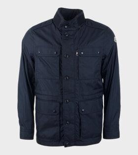 Moncler Lez Giubbotto Jacket Blue - dr. Adams