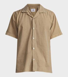 NN07 Miyagi S/S Shirt Beige - dr. Adams