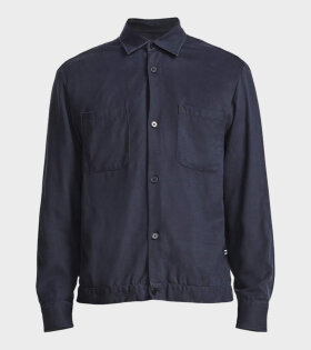 NN07 Drake Overshirt Navy - dr. Adams
