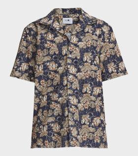 NN07 Miyagi S/S Shirt Blue - dr. Adams