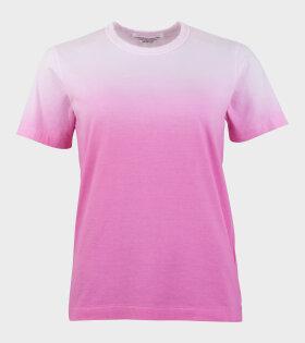Comme des Garcons S/S T-shirt Ombre Pink - dr. Adams
