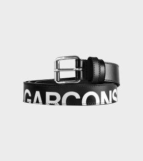 Comme des Garcons Wallet Huge Logo Belt Black - dr. Adams