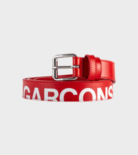 Comme des Garcons Wallet Huge Logo Belt Red - dr. Adams