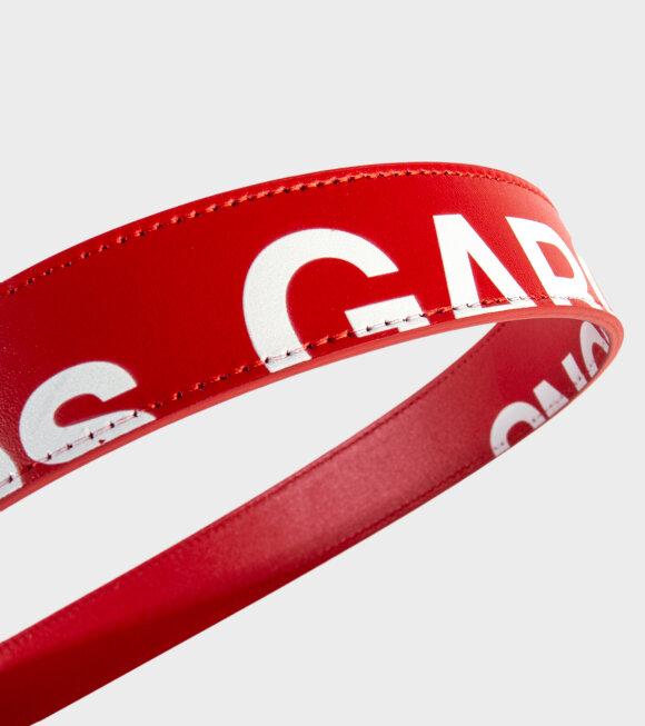 Comme des Garcons Wallet - Huge Logo Belt Red