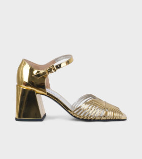 Suzanne Rae High 70s Strappy Sandal Gold - dr. Adams