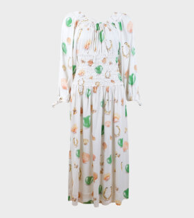Saks Potts Mamasita Dress Sympol Print White - dr. Adams