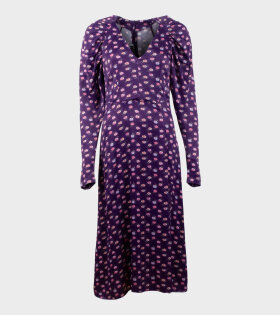 Rotate Clair Dress Pansy Purple - dr. Adams