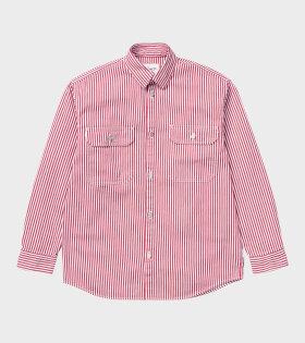 Carhartt WIP W L/S Master Shirt Red - dr. Adams