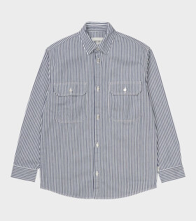 Carhartt WIP L/S Great Master Shirt Blue - dr. Adams