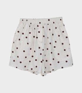 Ganni, Printed Cotton Poplin shorts white - dr. Adams