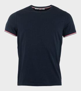 Moncler Maglia T-Shirt Blue - dr. Adams
