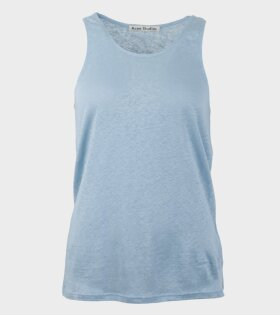 Acne Studios Emma Linen Top Blue - dr. Adams