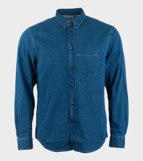 Acne Studios Sarkis Denim Shirt Blue - dr. Adams