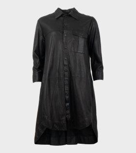 Munderingskompagniet / MDK, Chili Thin Leather Dress Black - dr. Adams