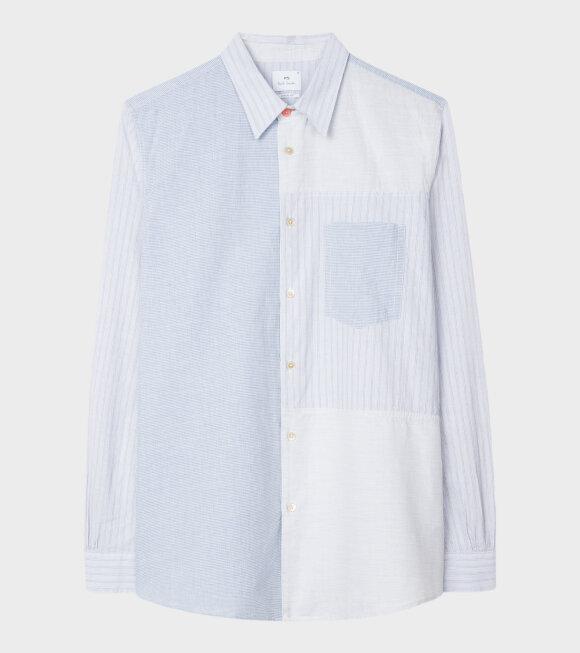 Men's Mix Shirt Blue