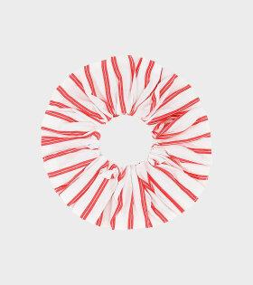 Ganni Scrunchie Stribed White/Red - dr. Adams