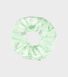 Ganni Scrunchie Silk Green - dr. Adams