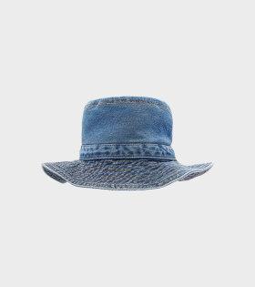 Ganni Denim Bucket Hat Blue - dr. Adams