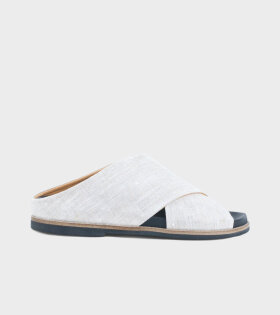 Ganni Flat Sandals Nature - dr. Adams