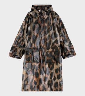 Ganni Thermoshell Raincoat Leopard - dr. Adams
