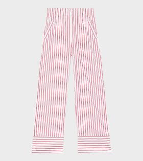 Ganni Striped Pants White - dr. Adams