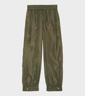 Ganni Recycled Ripstop Quilt Pants Green - dr. Adams