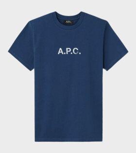 A.P.C Stamp T-shirt Blue - dr. Adams