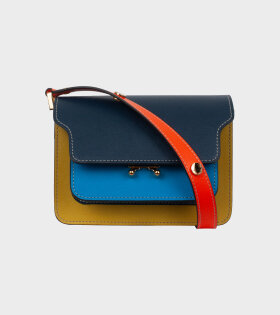 Marni - Mini Trunk Saffiano Bag Blue/Yellow/Orange