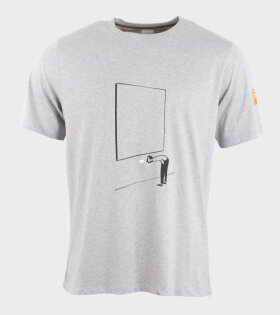 Gents T-shirt Gallery Print Grey