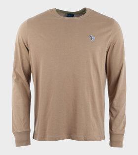 Mens Reg Fit Zebra LS Shirt Brown