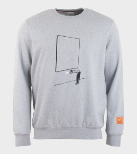 Gents Gallery Print Sweatshirt Grey