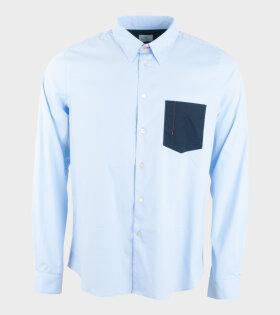 Mens Shirt Tailored Ls Shirt Blue
