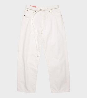 Acne Studios 1991 Toj Jeans White - dr. Adams
