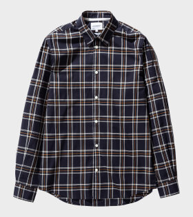 Norse Projects - Hans Light Check Shirt Dark Blue