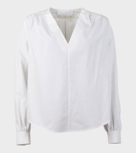 Straw LS Shirt Bright White